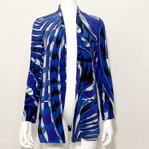 Emilio Pucci Long Sleeve Open Front Silk Cardigan